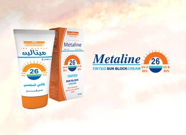 metaline sun block tinted 26 spf